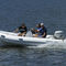 outboard inflatable boat / rigid / side console / for fishing
