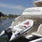 outboard inflatable boat / foldable / center console / with jockey console