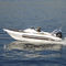 outboard inflatable boat / twin-engine / rigid / side console
