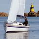 monohull / day-sailer / open transom / with bowsprit