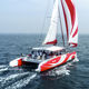 catamaran / charter / open transom / deck saloon