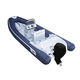 outboard inflatable boat / rigid / center console / fiberglass