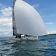 racing sailboat / open transom / foiling