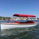 outboard open boat / electric / fiberglass / classic