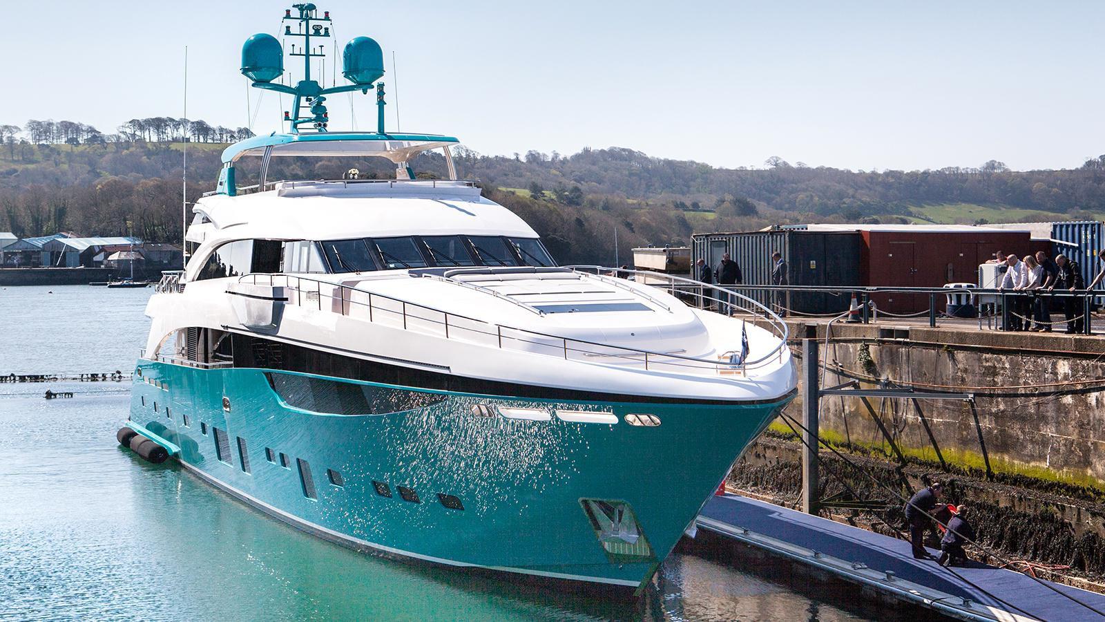 Bright Turquoise Princess 40M Yacht Named Anka