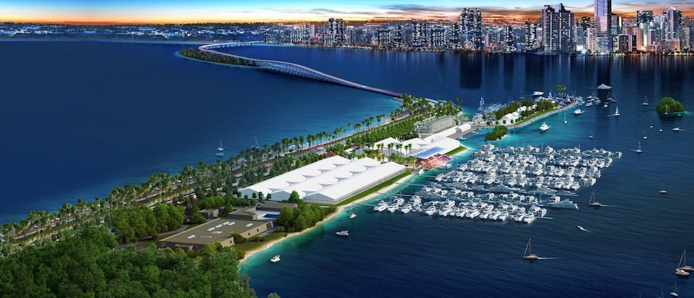 blue water stadium miami international boat show unveils new transportation plan for