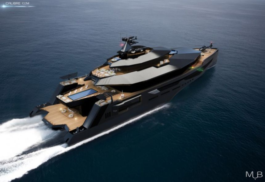 The New Super Fast 102m Mega Yacht Concept