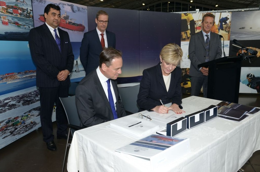ff2441e6bf The signing of the contract for Australia's new icebreaker. Image courtesy: Australian  Antarctic Division