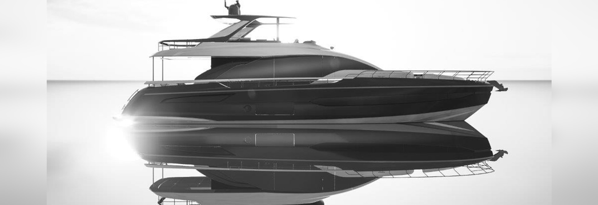 Alberto Mancini's styling is a first for the Azimut flybridge range