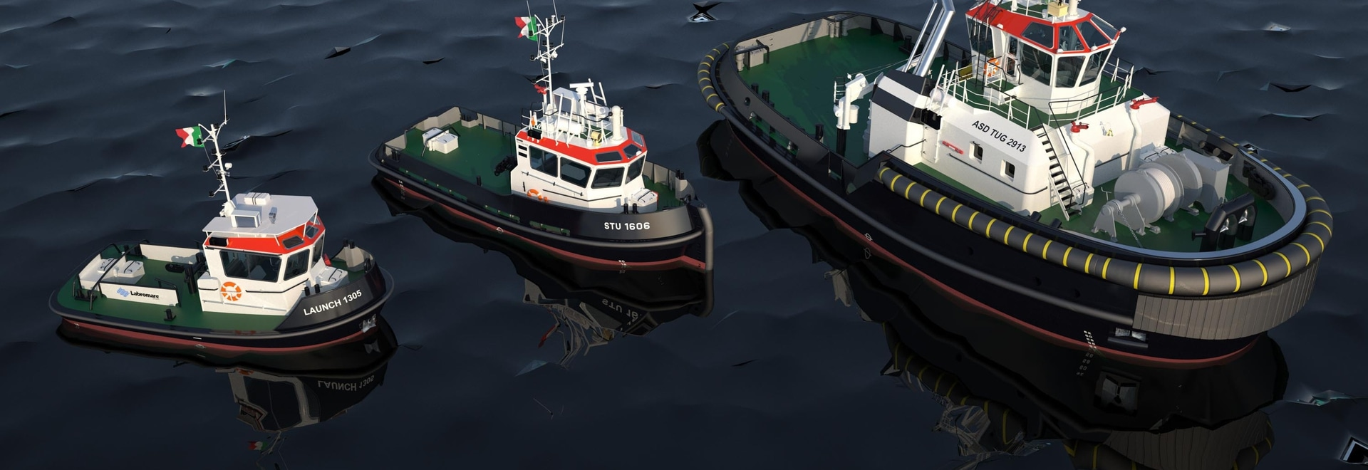 An ASD tug, Stan Tug 1606 and a Stan Launch 1305 are on order for Fratelli Neri (Damen)