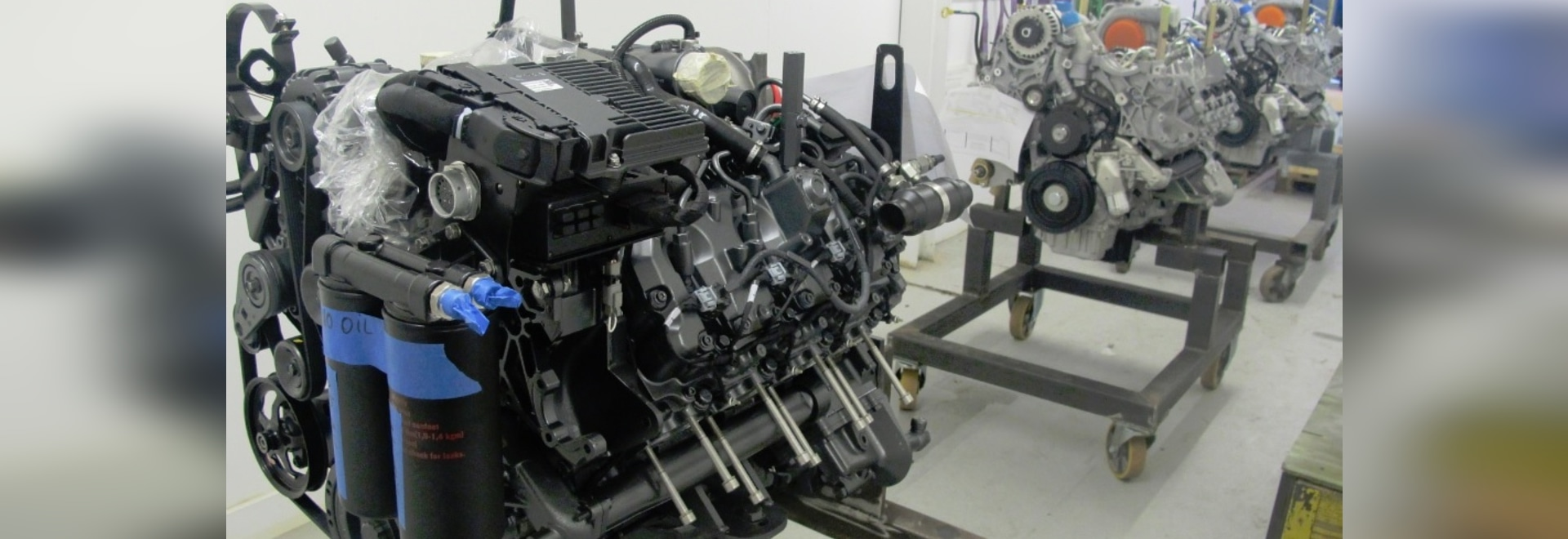 Automotive diesels being marinised at Proteum