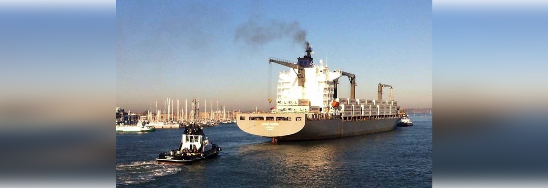 BIGGEST MERCHANT SHIP TO VISIT PORTSMOUTH