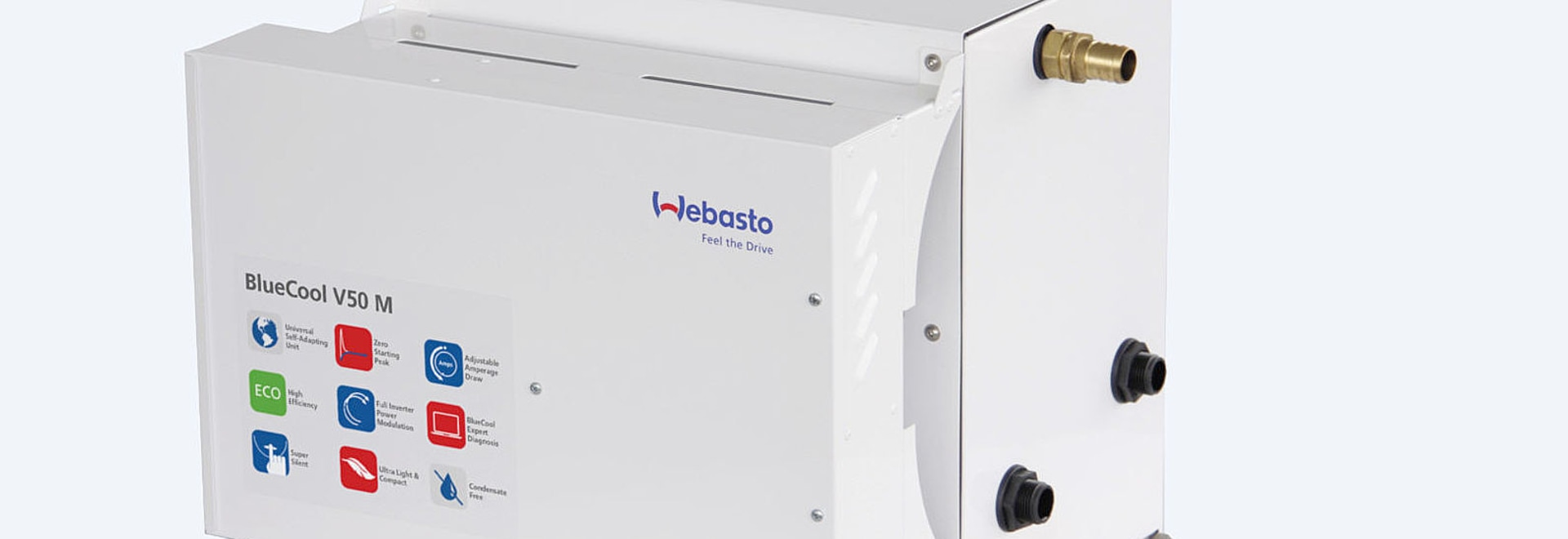 The BlueCool V50 M variable speed chiller air-conditioning system