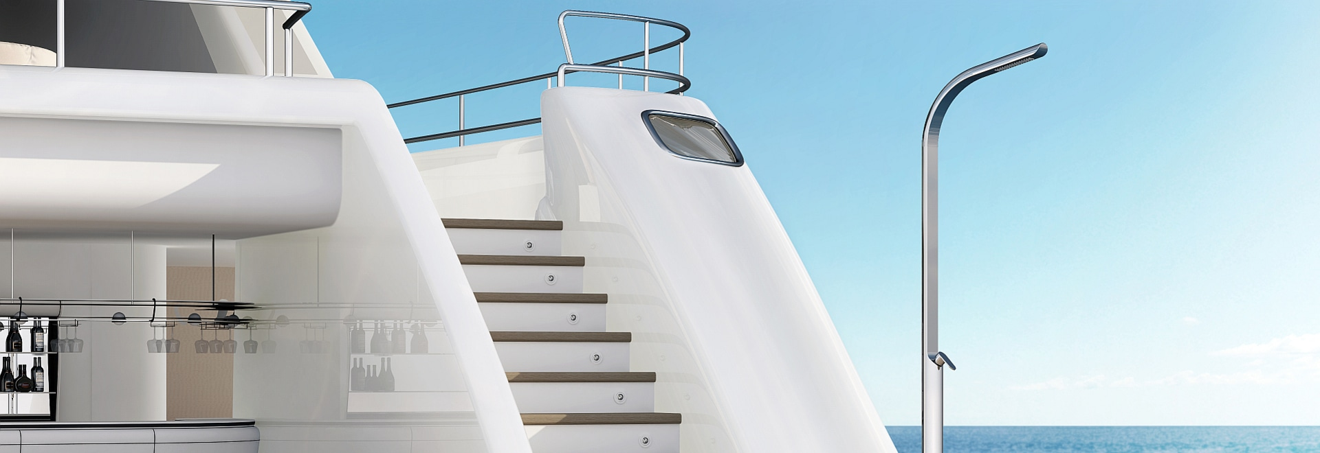 Dream Yacht - Stainless steel shower for yacht