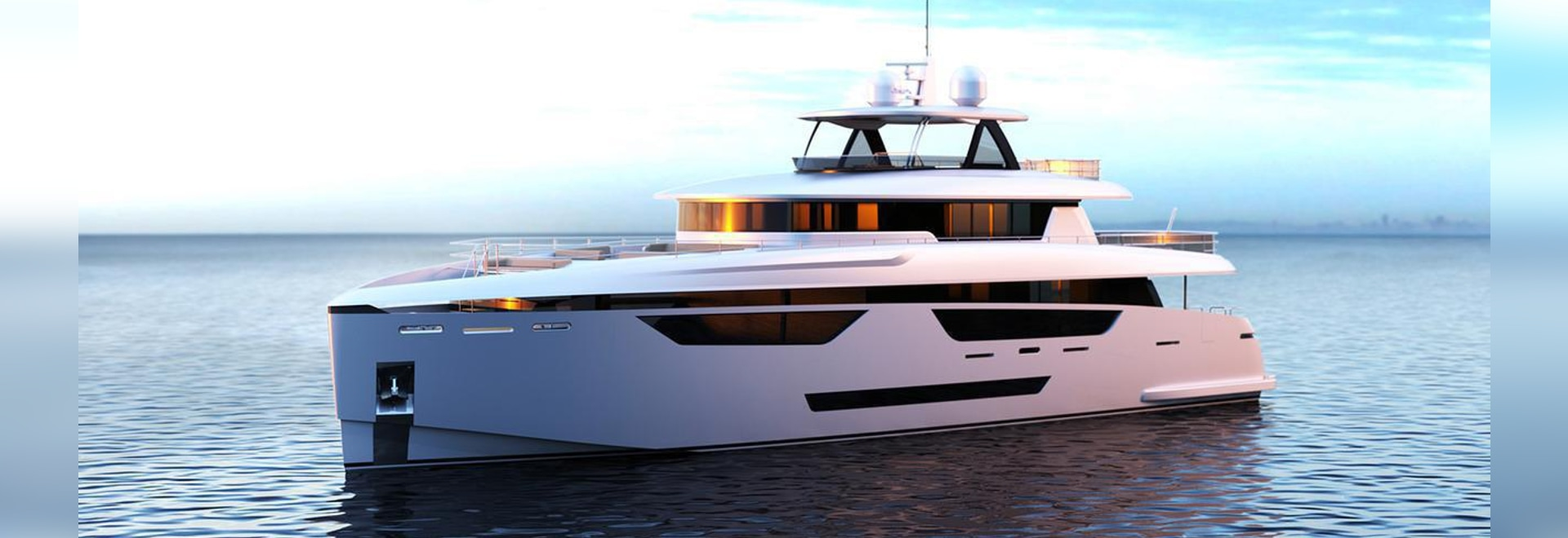 Exterior design comes from Dixon Yacht Design while Design Unlimited has handled the interior design