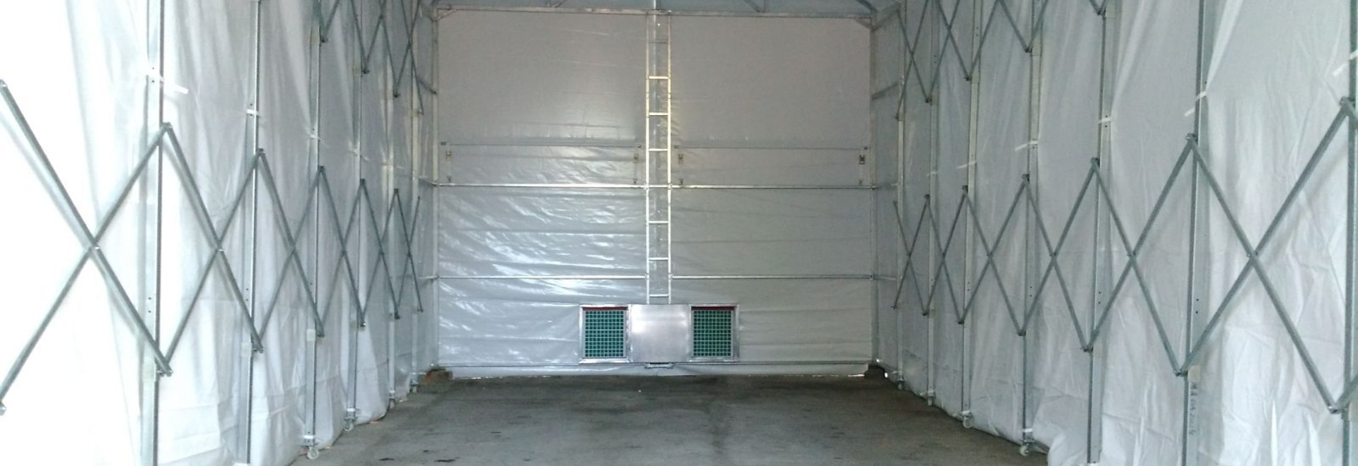 folding yacht spray booth