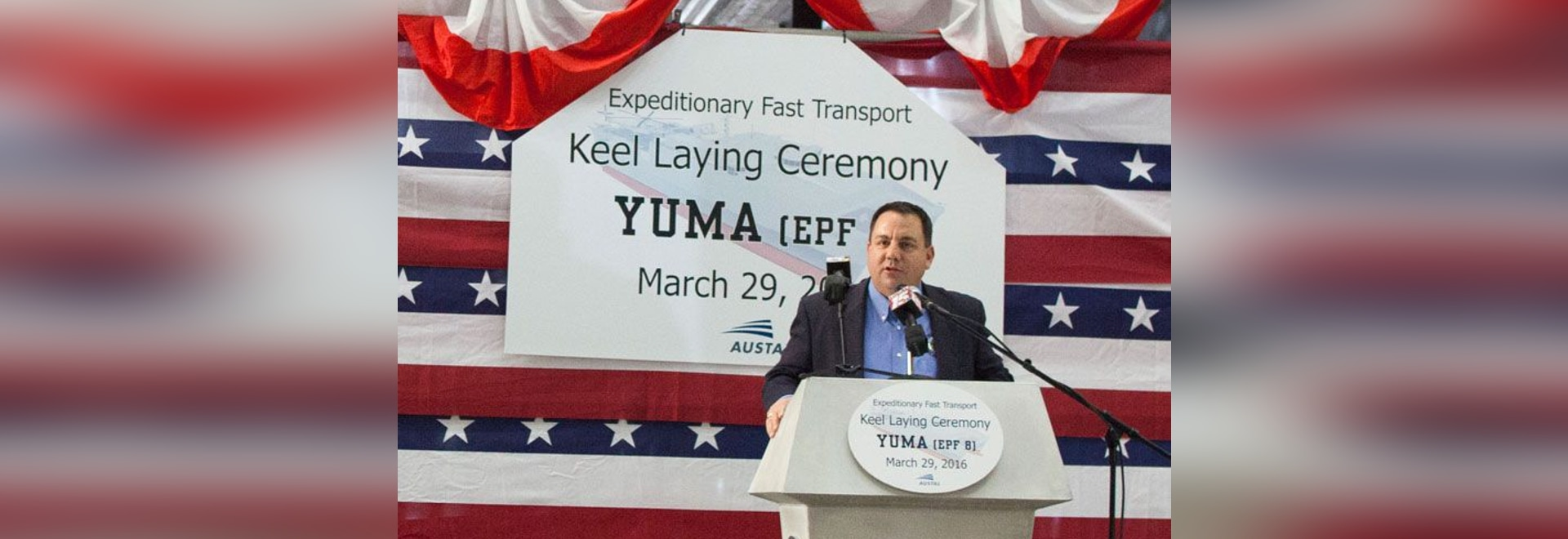 Keel was authenticated by Douglas Nicholls, Mayor of EPF 8's namesake city, Yuma, AZ