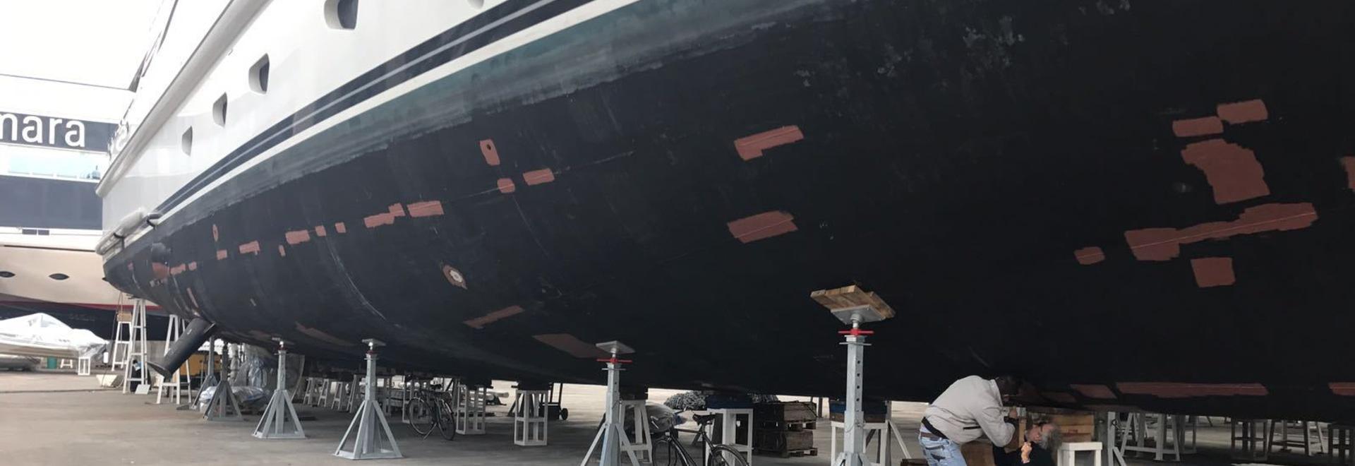 Kit Keel-Blocks for Mega Motor Yacht