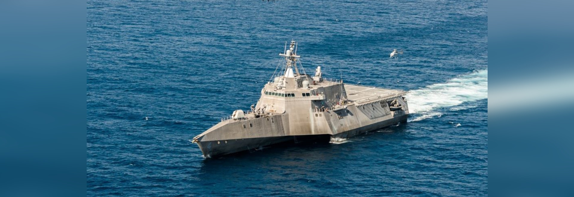 The littoral combat ship USS Coronado (LCS 4). Navy photo by Mass Communication Specialist 2nd Class Jacob I. Allison