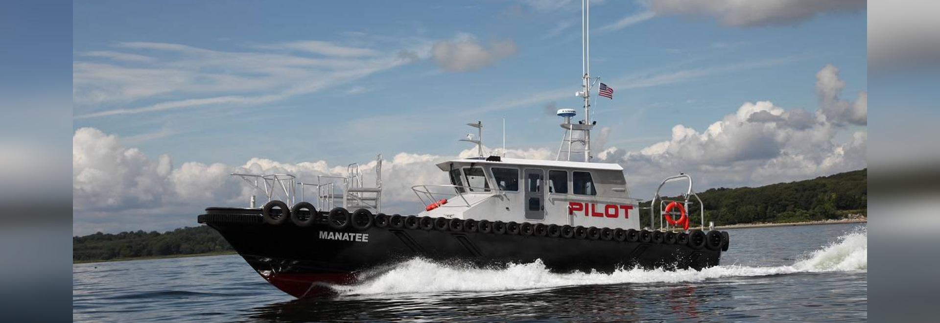 The Manatee, an upgraded Chesapeake-class pilot boat built by Gladding-Hearn for the Tampa Bay Pilots.