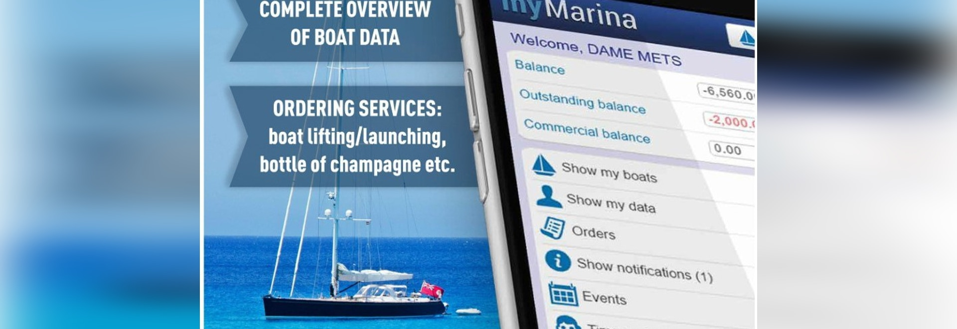 myMarina - new integrated Cloud-based CRM now as App on the App Store or Google play