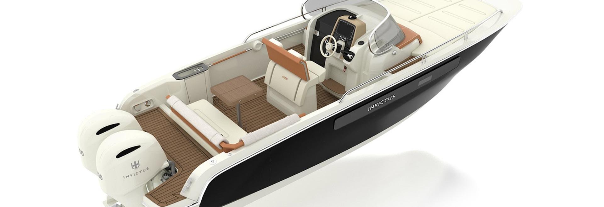 The new 8.1 metre Invictus CX270 superyacht tender
