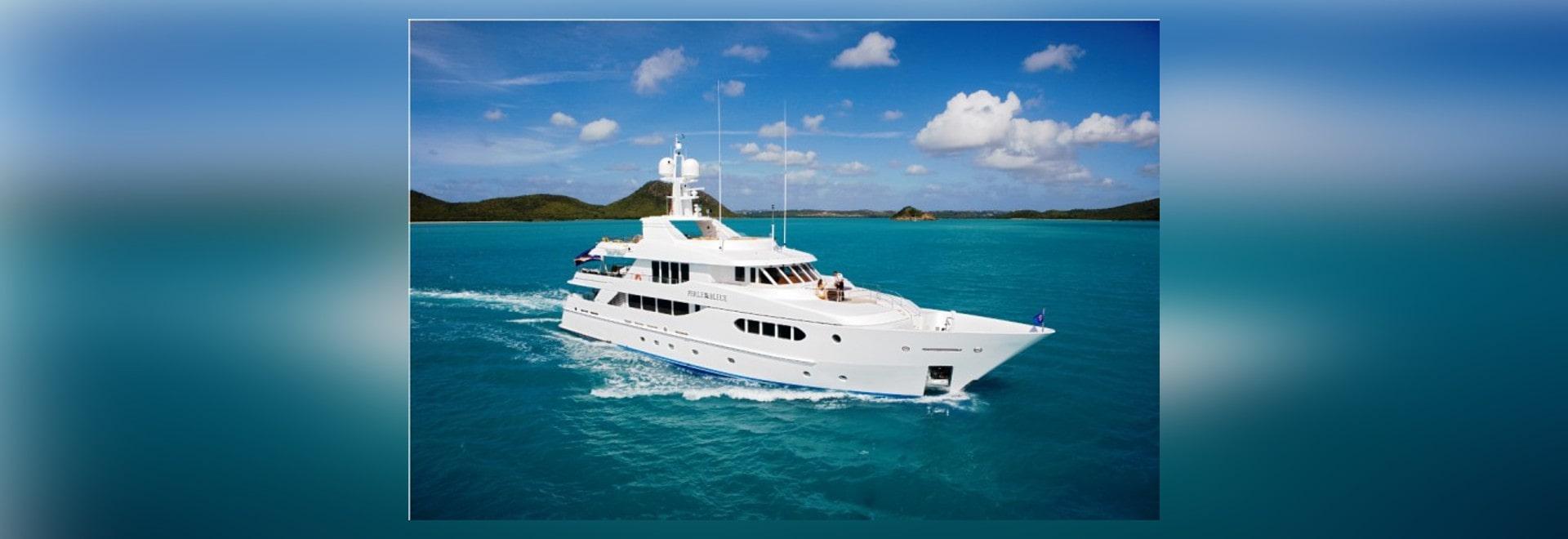 News: Superyacht PERLE BLEUE available for Caribbean and Bahamas Yacht Charter