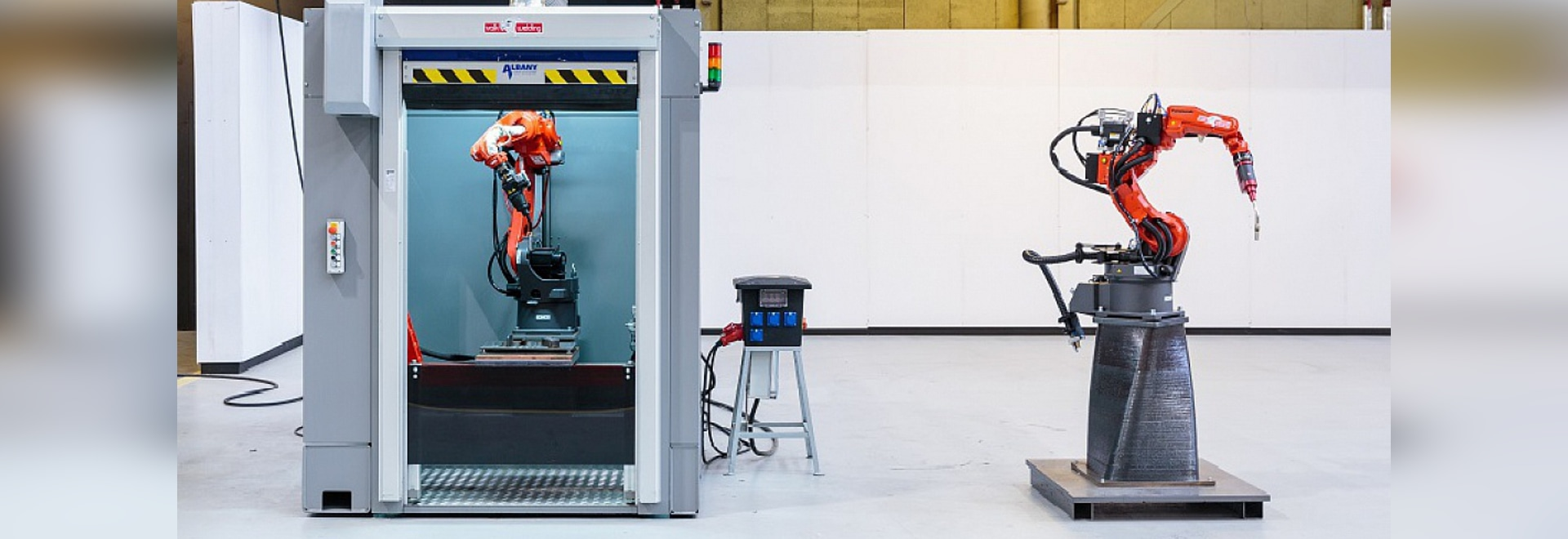 The Port of Rotterdam's 3D metal printers (Courtesy of RAMLAB)