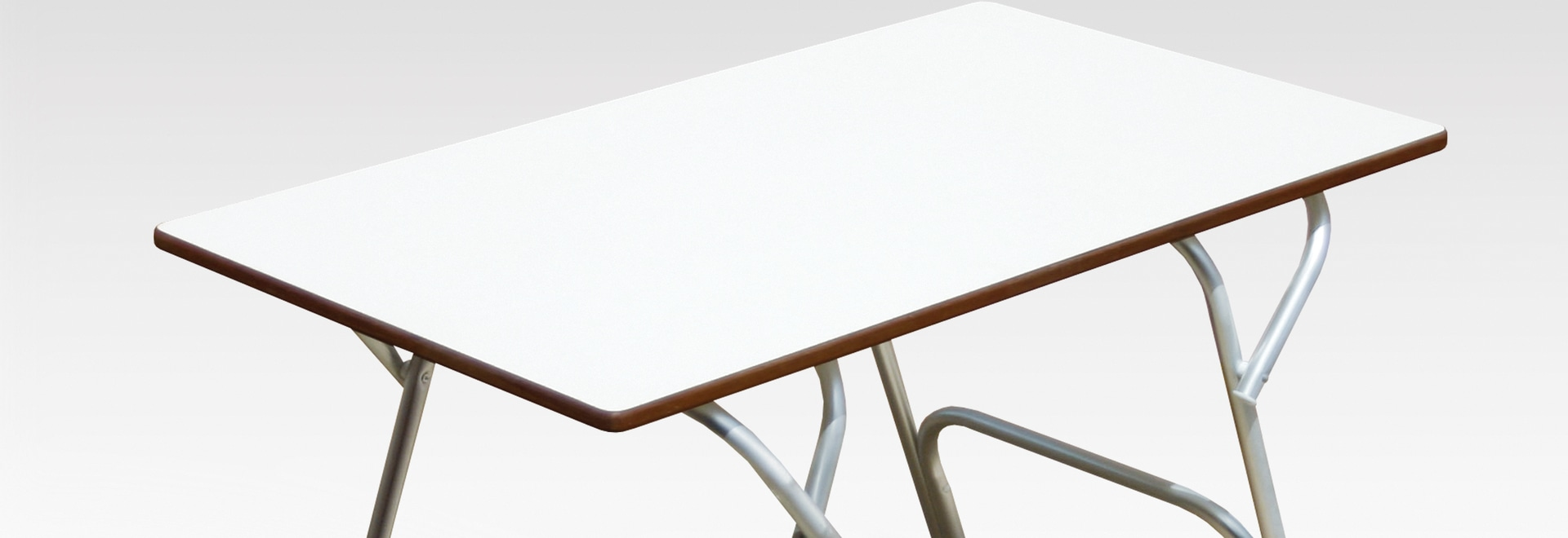 Practical, folding new FORMA deck tables made of plywood with formica