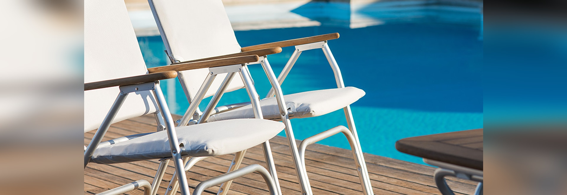 Sit on a VENUS Chair and enjoy your boat deck