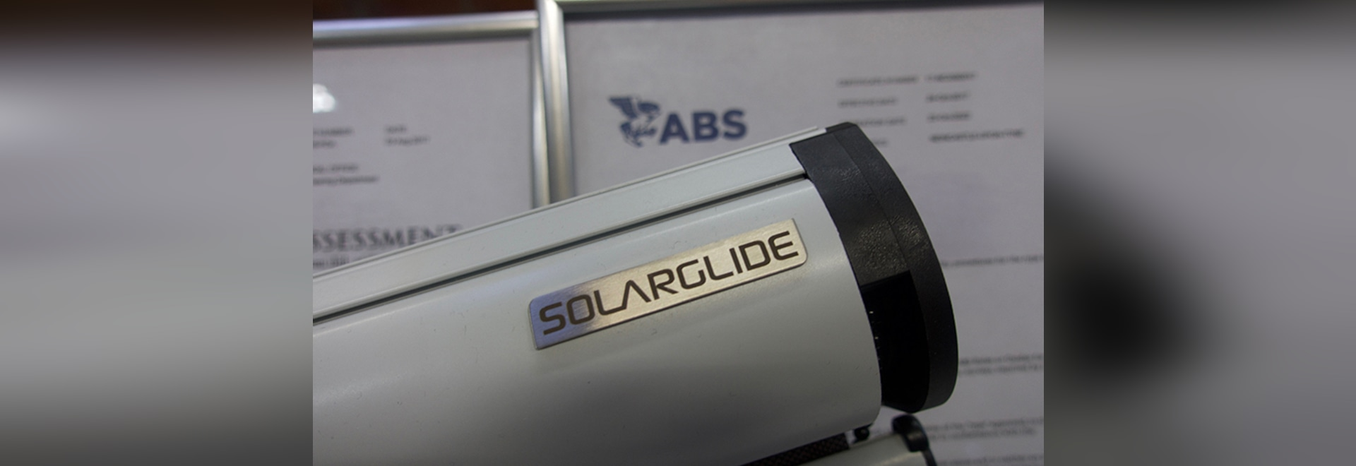 SOLARGLIDE ANNOUNCES ABS TYPE APPROVAL FOR SG GLIDER SOLAR SCREENS
