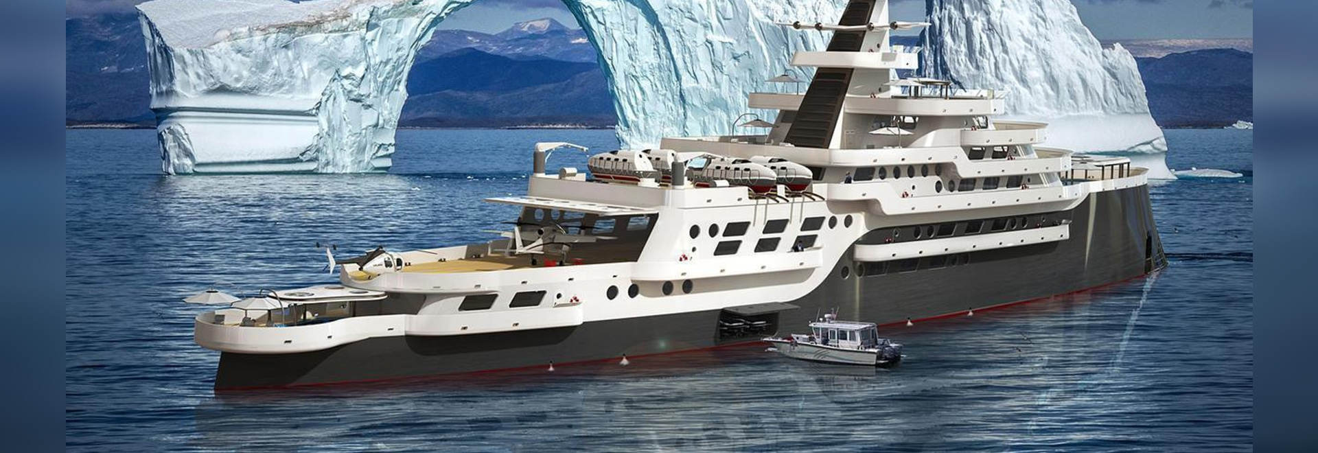 Steve Kozloff unveils nine decked 117 metre expedition yacht