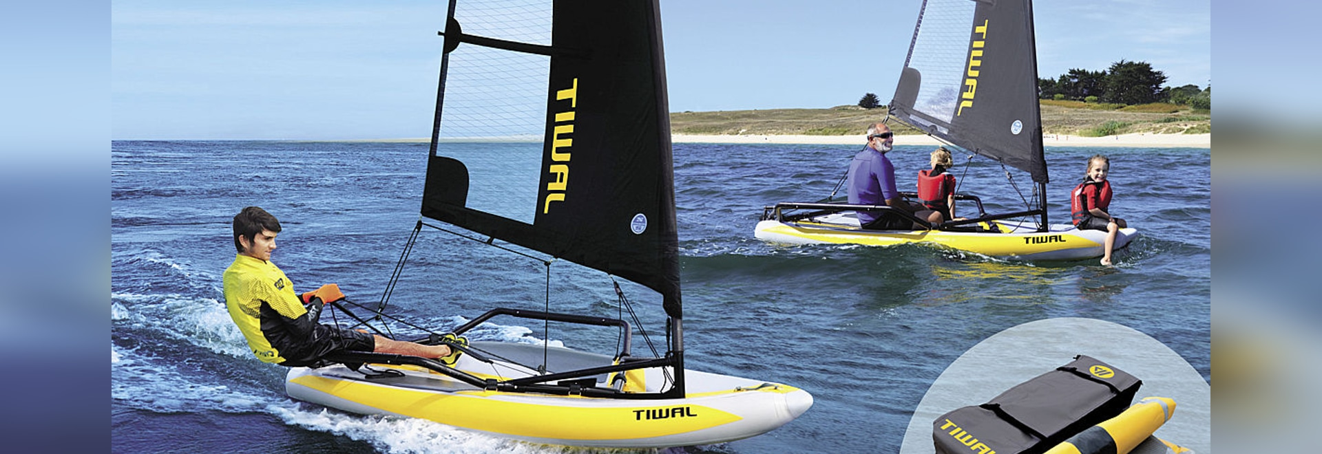 TIWAL 3.2, first high performance inflatable sailing dinghy