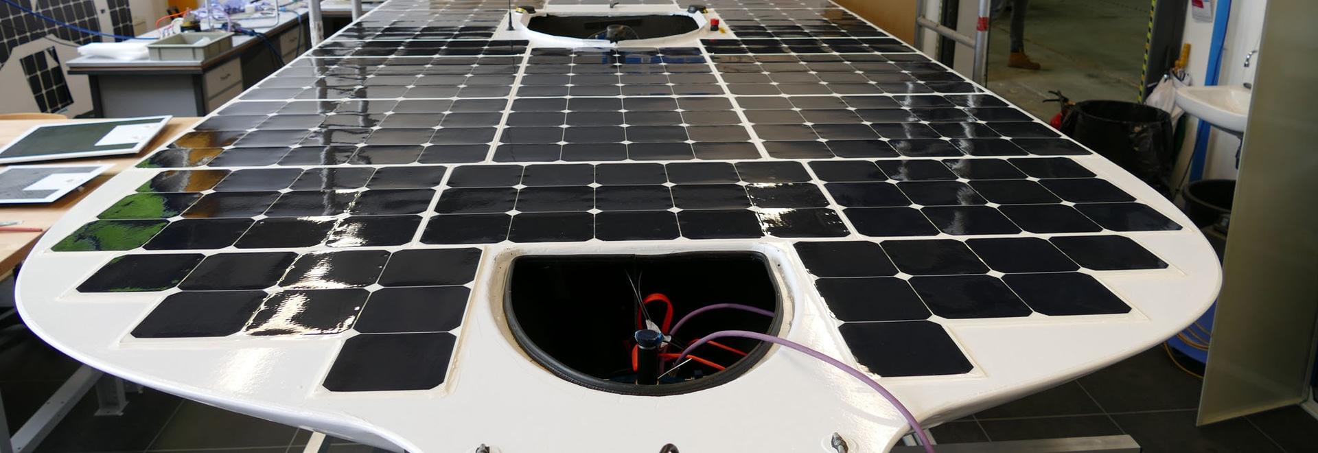 The TU Delft Solar Boat.
