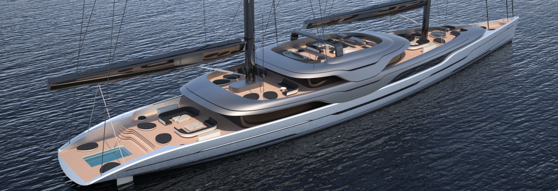 Van Geest and Rob Doyle Design unveil new 93m sailing yacht
