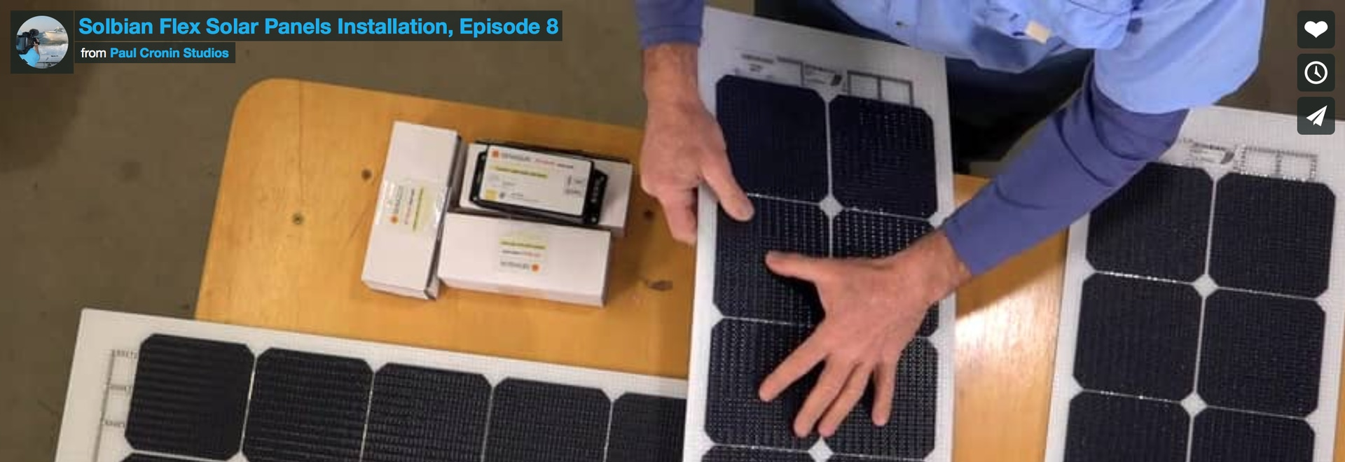 A video tutorial showing how to install Solbian SP panels on a boat