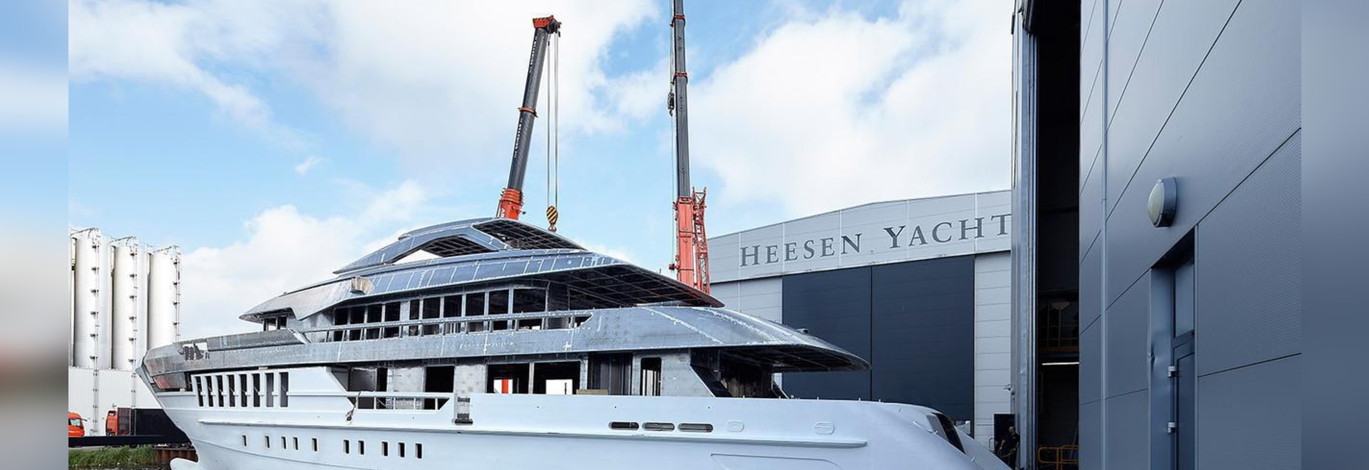 The yacht was launched on January 4. All photos courtesy of Dick Holthuis.