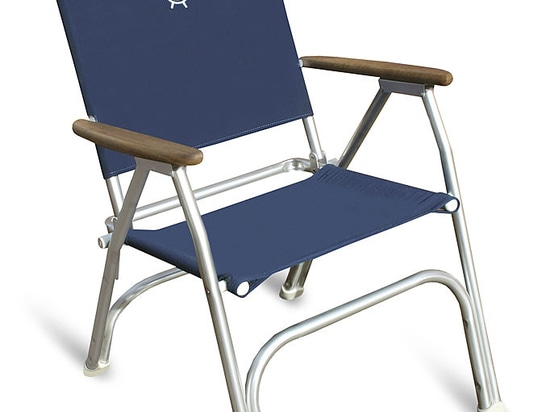 "M100HB  ""High Back "" FORMA Folding Aluminium Deck Chair for Extreme Back Support"