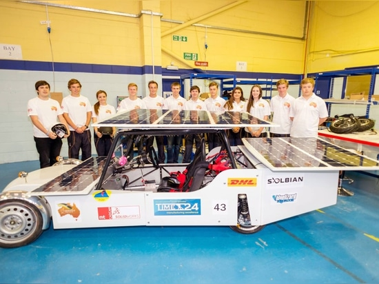 The Ardingly Solar car and its team.
