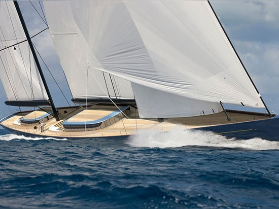 built for speed, the hull promotes classic sailing lines