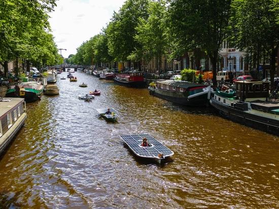 The solar boat of TU Delft Solar Boat Team