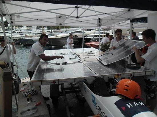 Solbian solar panels on the HAN Solar boat