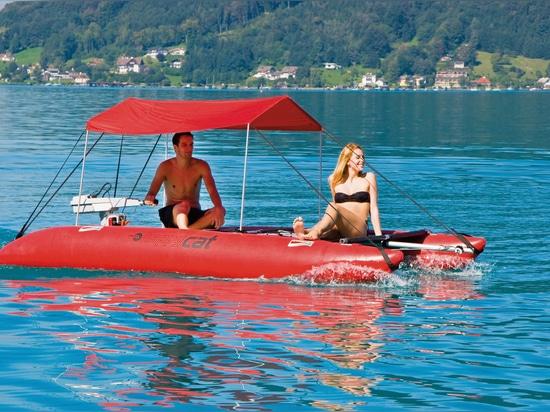 sun roof inflatable catamaran