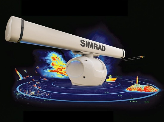 Simrad's Halo radar sees almost everything.