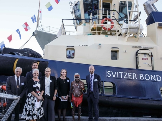 Guests line up for the naming of Svitzer's two new Australian tugs (Svitzer)