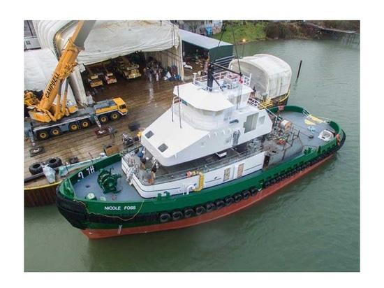 Wheelhouse installed on Third Foss Arctic Class tug