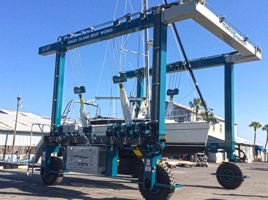 SNEAD ISLAND BOAT WORKS UPGRADES OPERATIONS WITH ADDITION OF NINTH MARINE TRAVELIFT IN 50 YEARS