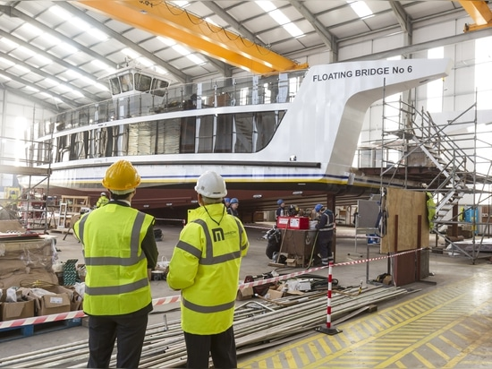 Mainstay used 180 tonnes of steel to fabricate the hull