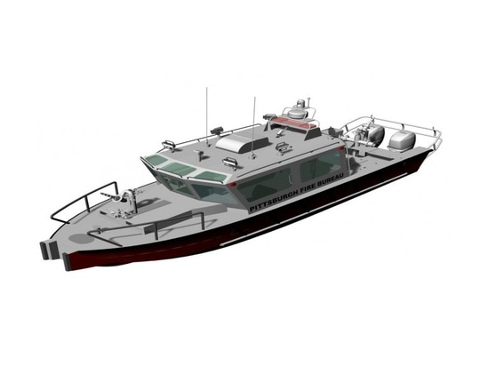 Pittsburgh is paying Lake Assault Boats $540,000 to build the city a new fireboat. Lake Assault Boats image