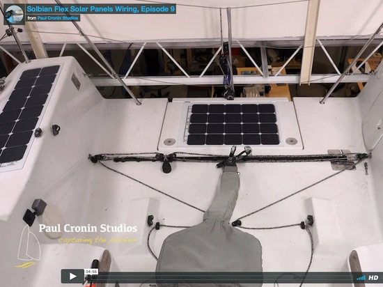 A video tutorial showing how to install Solbian SP panels on a boat (part 2)